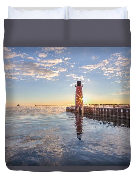 First Cold Sunrise Duvet Cover