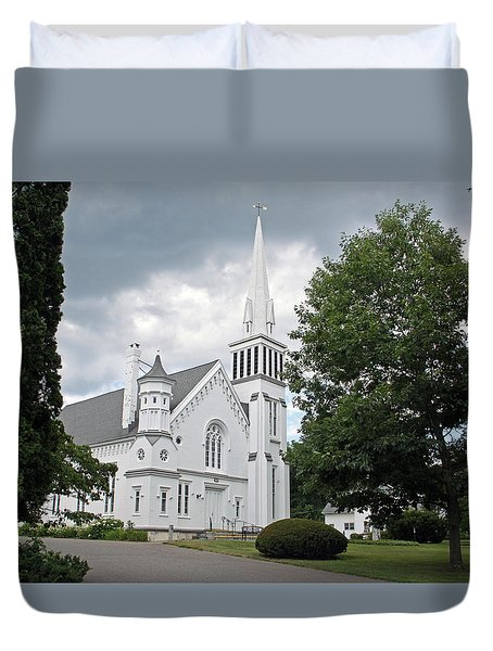 First Congregational Church Of Kent Duvet Cover