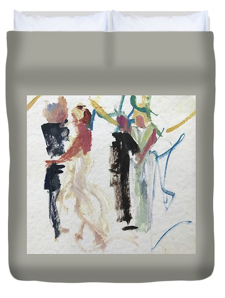First Dance Duvet Cover by Carol Berning