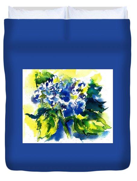 First Hydrangea Duvet Cover