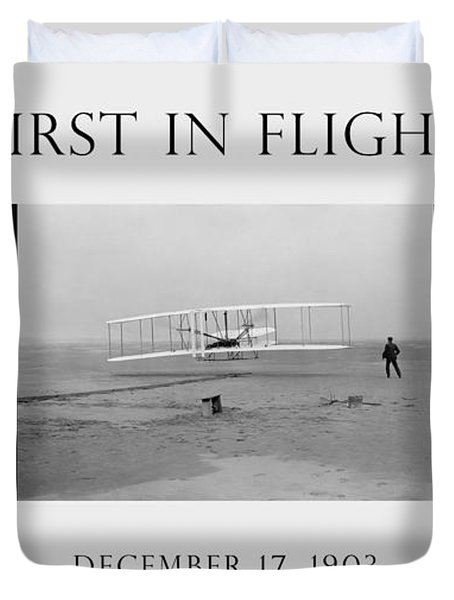 First In Flight - The Wright Brothers Duvet Cover