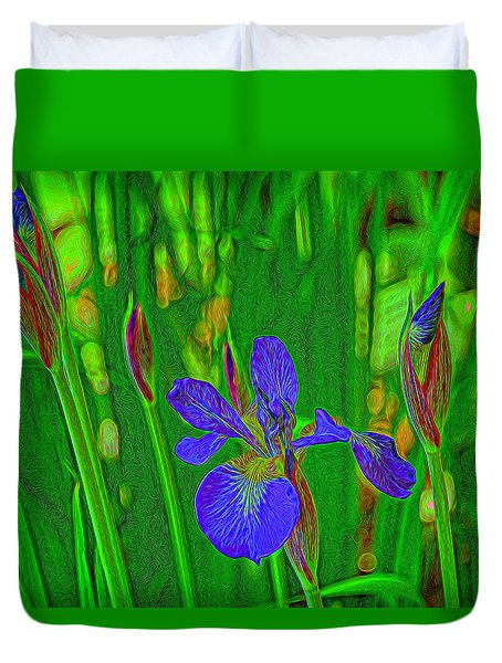 First Iris To Bloom Duvet Cover