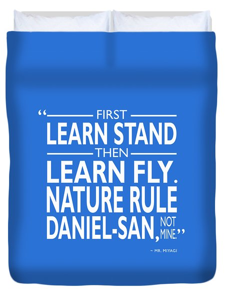First Learn Stand Duvet Cover