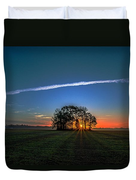 First Light At Center Grove Duvet Cover by John Harding