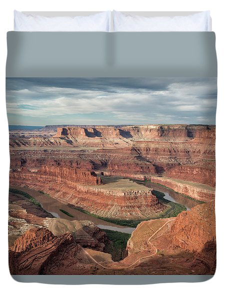 First Light At Dead Horse Point Duvet Cover