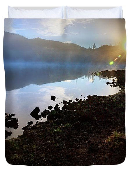 Duvet Cover featuring the photograph Daybreak by Cat Connor