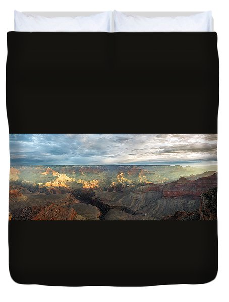 First Light In The Canyon Duvet Cover
