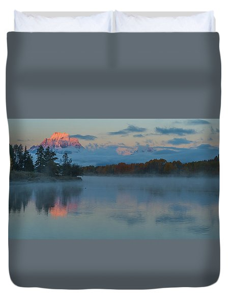 First Light Of Dawn Duvet Cover by Yeates Photography