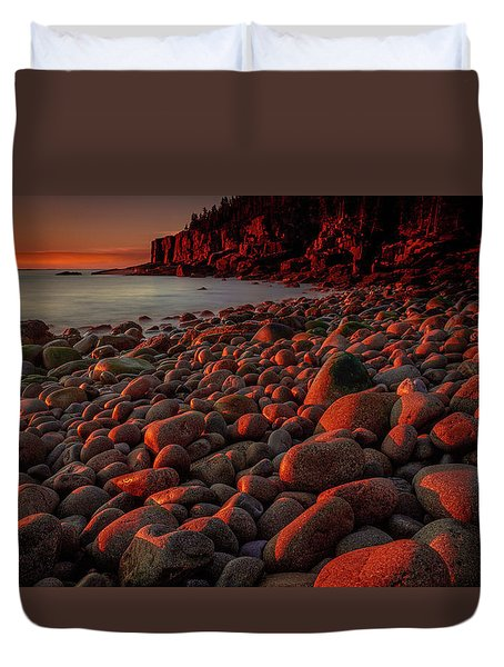 First Light On A Maine Coast Duvet Cover by Tim Bryan