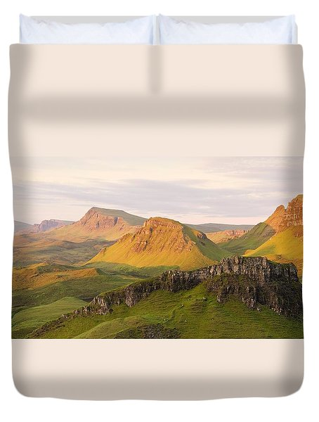 First Light Trotternish Panorama Duvet Cover