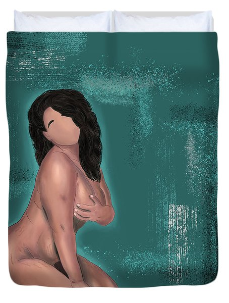 Duvet Cover featuring the digital art First Love Yourself by Bria Elyce