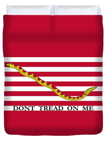 First Navy Jack Duvet Cover by War Is Hell Store