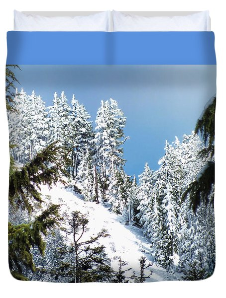 First November Snowfall Duvet Cover by Wendy McKennon