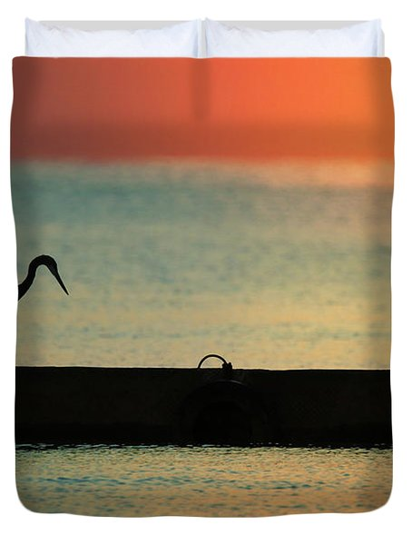 First On The Jetty Duvet Cover