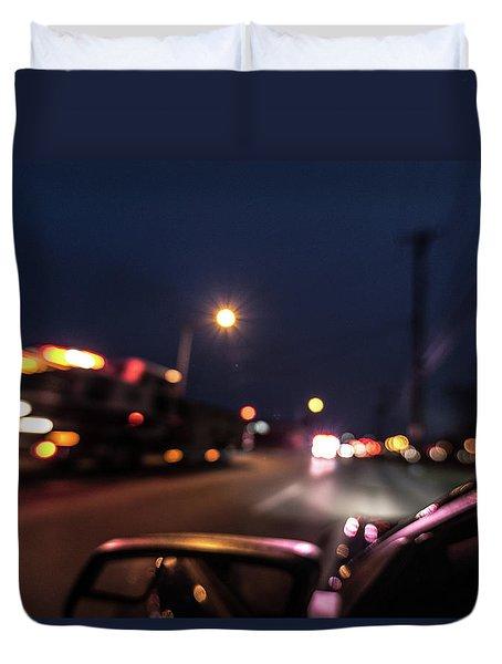 Duvet Cover featuring the photograph First Responders by Randy Scherkenbach