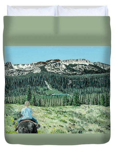 First Ride Duvet Cover