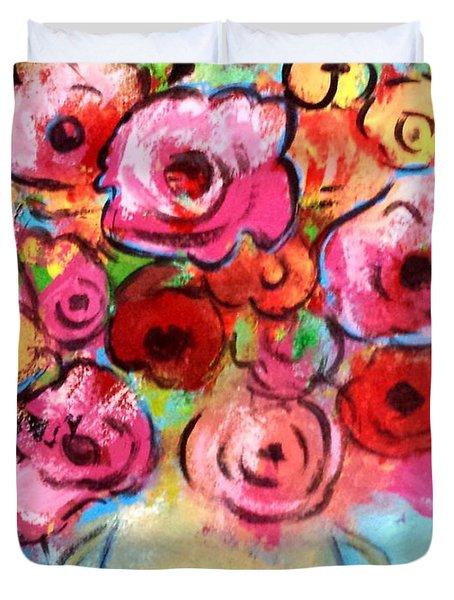 First Roses Of Summer Duvet Cover
