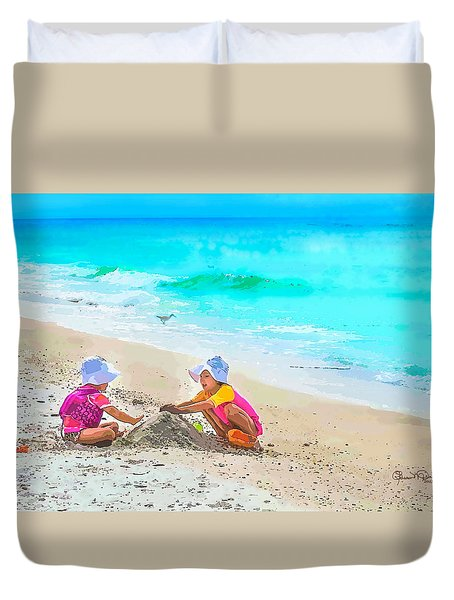 First Sand Castle Duvet Cover