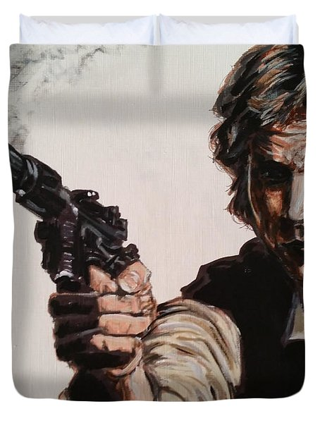 First Shot - Han Solo Duvet Cover