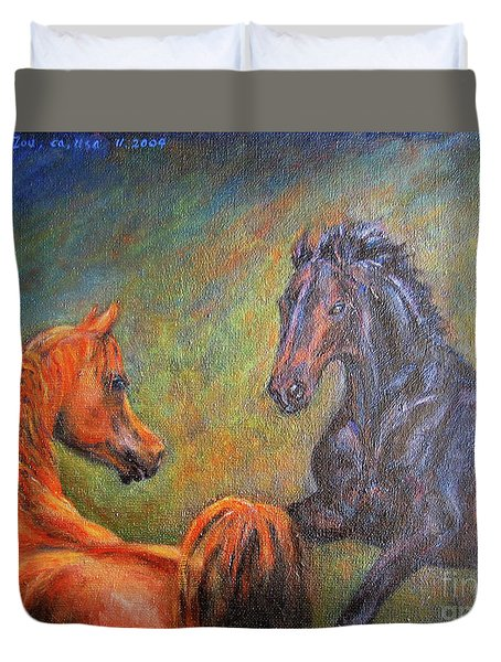 First Sight Duvet Cover by Xueling Zou