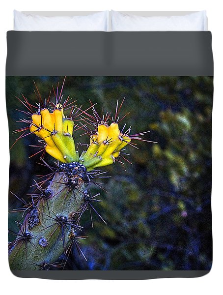 First Signs Of Spring On The Sonoran Desert Duvet Cover