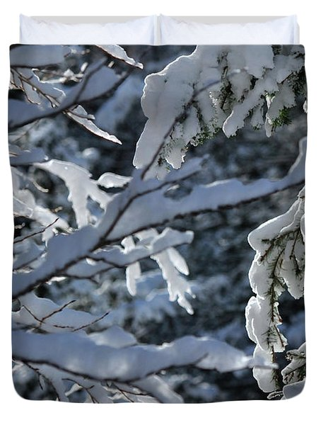 Duvet Cover featuring the photograph First Snow II by Ron Cline