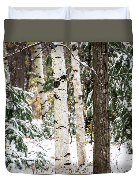 First Snow -  Duvet Cover