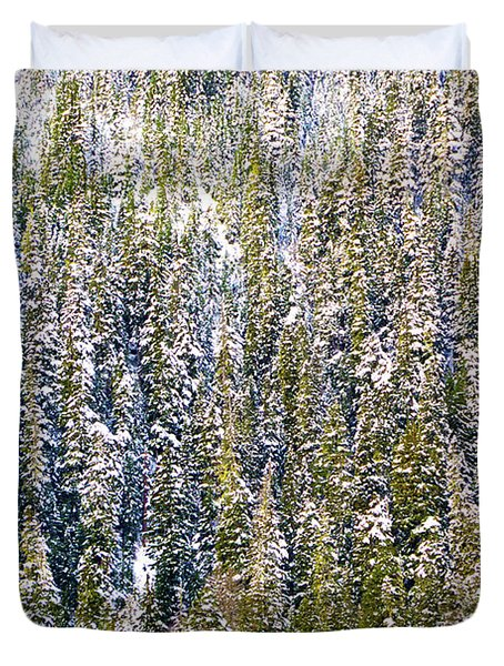 First Snow On Trees Duvet Cover