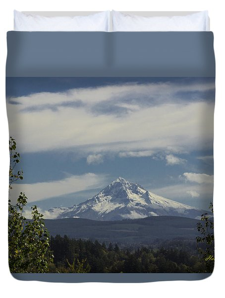 First Snow Signed Duvet Cover