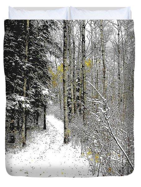 First Snowfall Duvet Cover