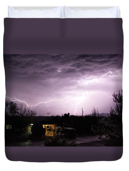 First Summer Storm Duvet Cover by Charles Ables