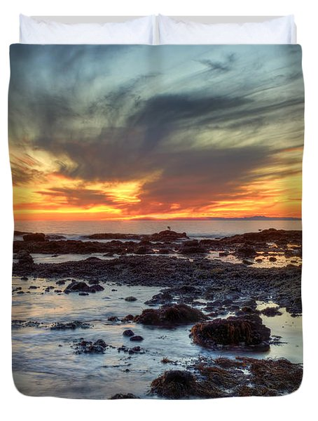 First Sunset Of 2016 Duvet Cover