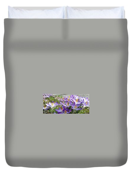 First Sunshine  Duvet Cover by Felicia Tica