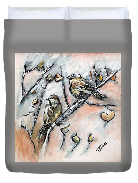 First Sure Sign Of Spring Duvet Cover