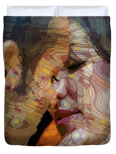 First Kiss Duvet Cover by Moustafa Al Hatter