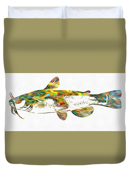 Fish Art Catfish Duvet Cover by Dan Sproul