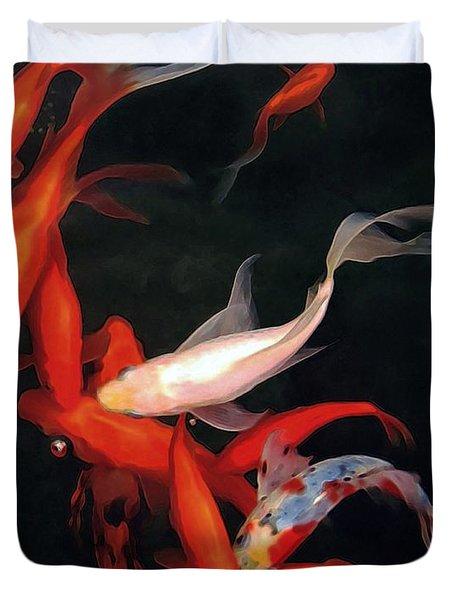 Fish Ballet Duvet Cover