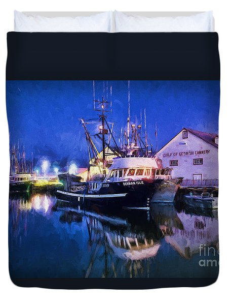 Fish Boats Duvet Cover