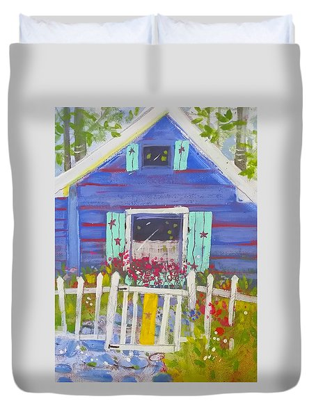 Fish Camp Cottage Duvet Cover