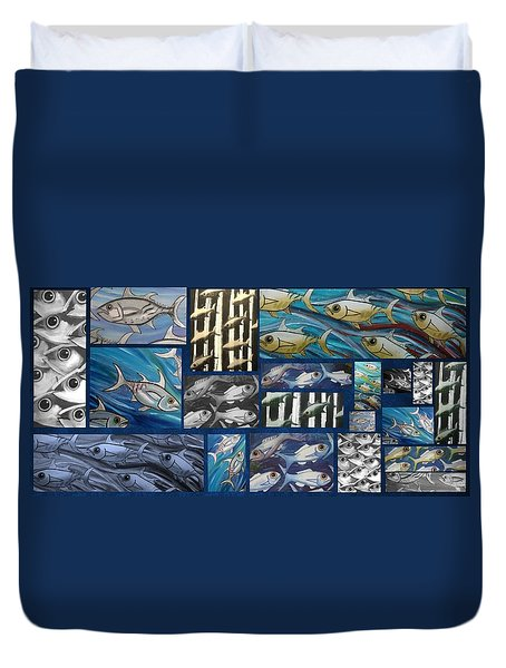 Fish Collage Duvet Cover
