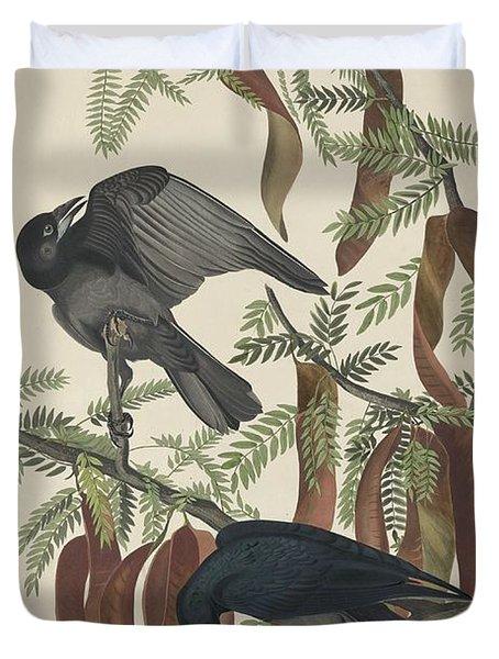 Fish Crow Duvet Cover