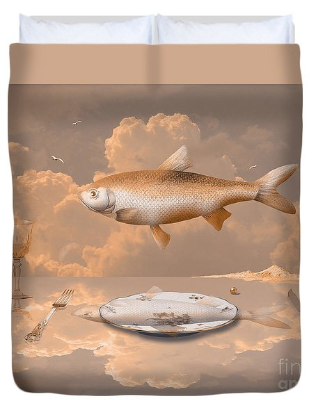 Fish Diner Duvet Cover