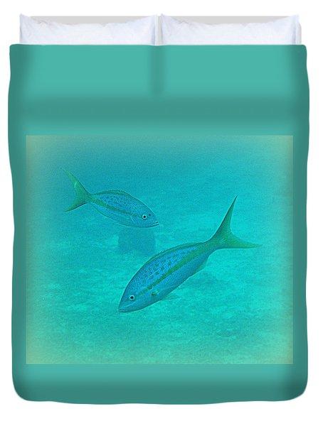 Fish Eye View  Duvet Cover