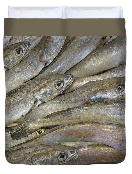 Fish Eyes Duvet Cover by Joe Bonita