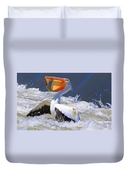 Fish For Dinner Duvet Cover