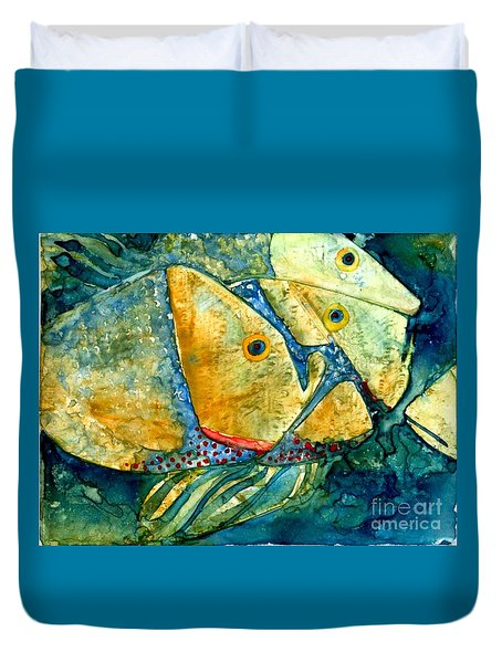 Fish Friends Duvet Cover