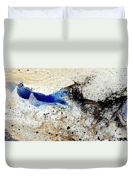 Fish In Rapids Duvet Cover