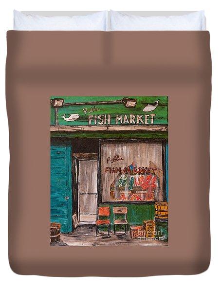 Fish Market Duvet Cover