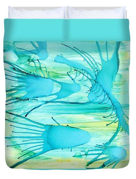 Fish N Shrimp Duvet Cover