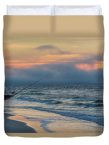 Duvet Cover featuring the photograph Fish On In Alabama  by John McGraw